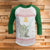 Fighting Yoda 3/4 Sleeve Raglan  - Star Wars Movie Christmas Shirt