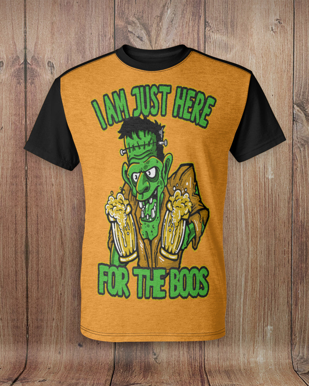 Frankenstein Here for the Boos All Over Print T-Shirt