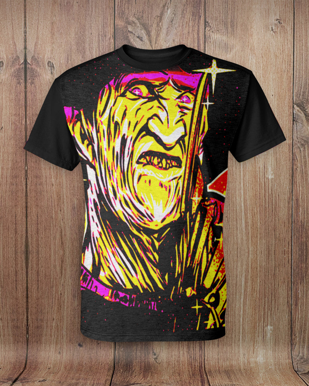 Freddy Neon Friday 13th All Over Print T-Shirt
