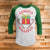Gangsta Wrapper 3/4 Sleeve Raglan - Funny Ugly Christmas Shirt