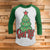 Get Lit This Holiday 3/4 Sleeve Raglan - Funny Ugly Christmas Shirt