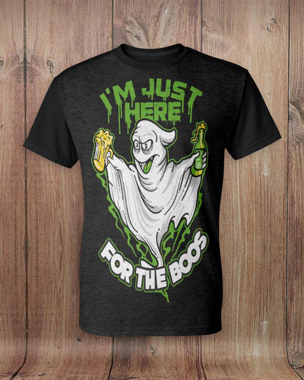 Just Here For The Boos All Over Print T-Shirt