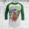 Halloween Mash Up 2 Youth All Over Print 3/4 Sleeve Raglan