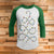 Holiday Lights Tree Shape 3/4 Sleeve Raglan - Funny Ugly Christmas Shirt