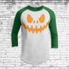 Jack O'Lantern 3 Youth All Over Print 3/4 Sleeve Raglan