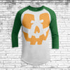 Jack O'Lantern 5 Youth All Over Print 3/4 Sleeve Raglan