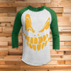 Jack O'Lantern All Over Print 3/4 Sleeve Raglan