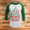 Jolliest Bunch of Assholes 3/4 Sleeve Raglan - Funny Christmas Shirt
