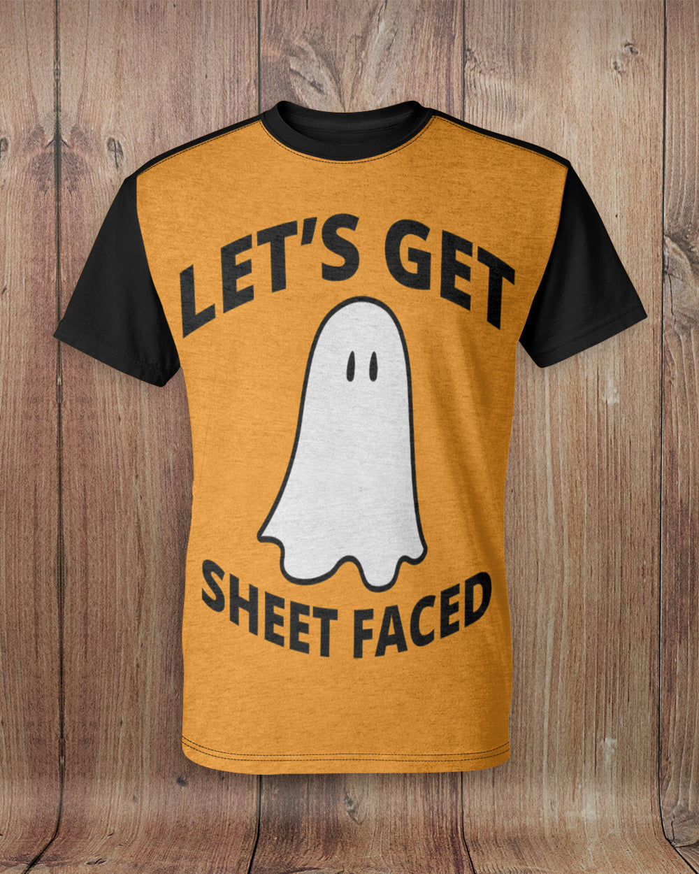 Let's Get Sheet Faced All Over Print T-Shirt