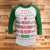 Merry Christmas Ya Filthy Animal 3/4 Sleeve Raglan - Christmas Story Movie Shirt