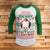 Merry Scary Floatmas 3/4 Sleeve Raglan - IT Movie Christmas Shirt