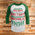 Merry Victory Royale 3/4 Sleeve Raglan - Funny Christmas Shirt