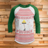 Ohh Fudge Ralphie 3/4 Sleeve Raglan - Christmas Story Movie Shirt