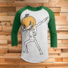 Dabbing Halloween Pumpkin All Over Print 3/4 Sleeve Raglan