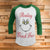 Resting Grinch Face 3/4 Sleeve Raglan - Grinch Movie Christmas Shirt