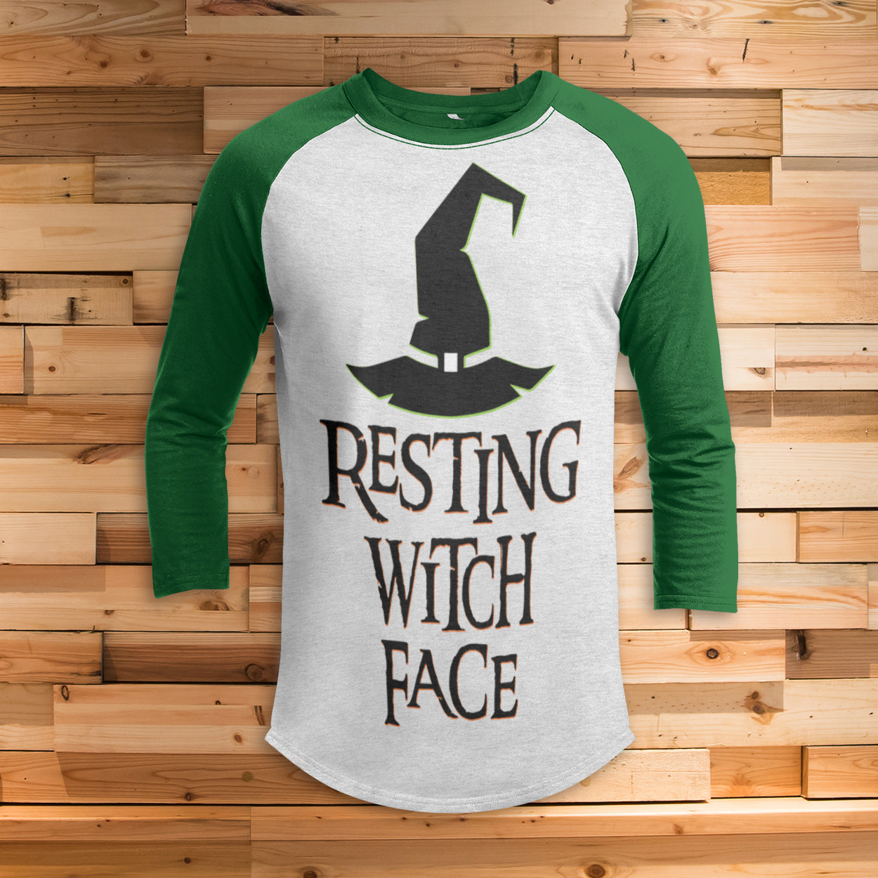 Resting Witch Face All Over Print 3/4 Sleeve Raglan