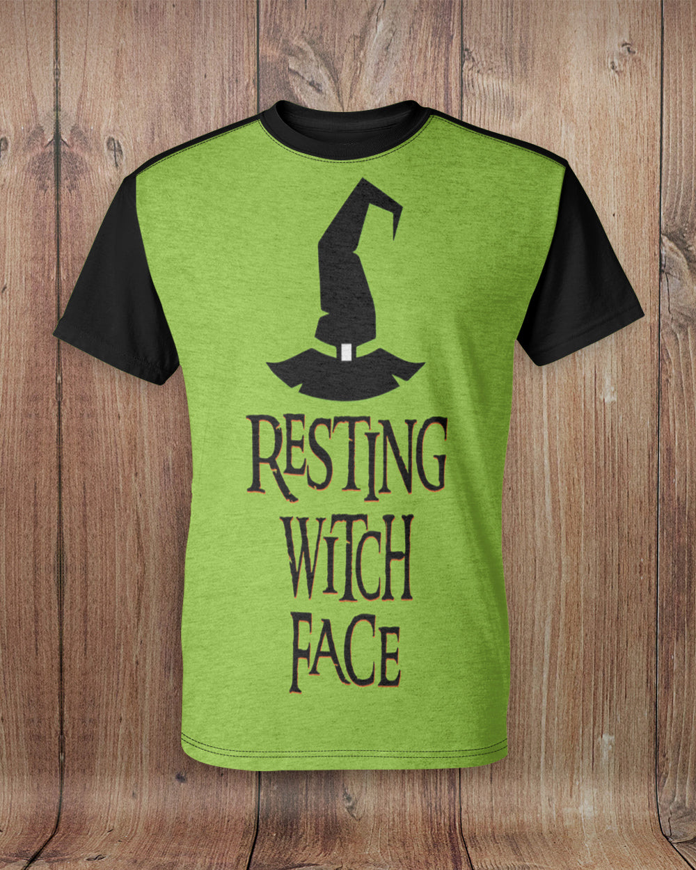 Resting Witch Face All Over Print T-Shirt