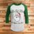 Santa Ho's Different Area Codes 3/4 Sleeve Raglan - Funny Christmas Shirt