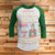 Elf Santa I Know Him 3/4 Sleeve Raglan - Elf Movie Christmas Shirt