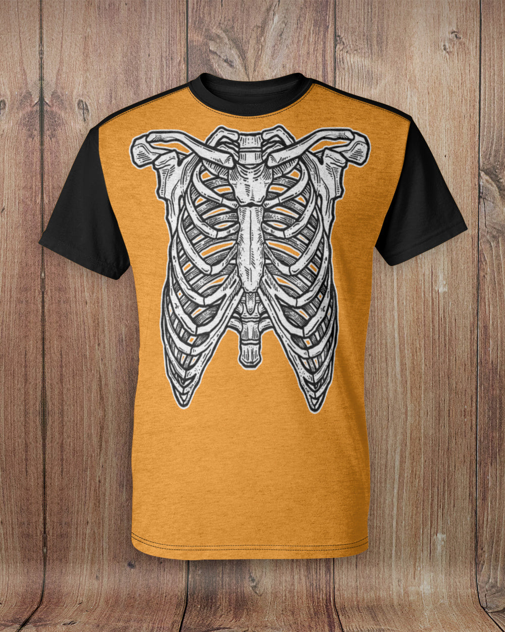 Skeleton Ribs All Over Print T-Shirt