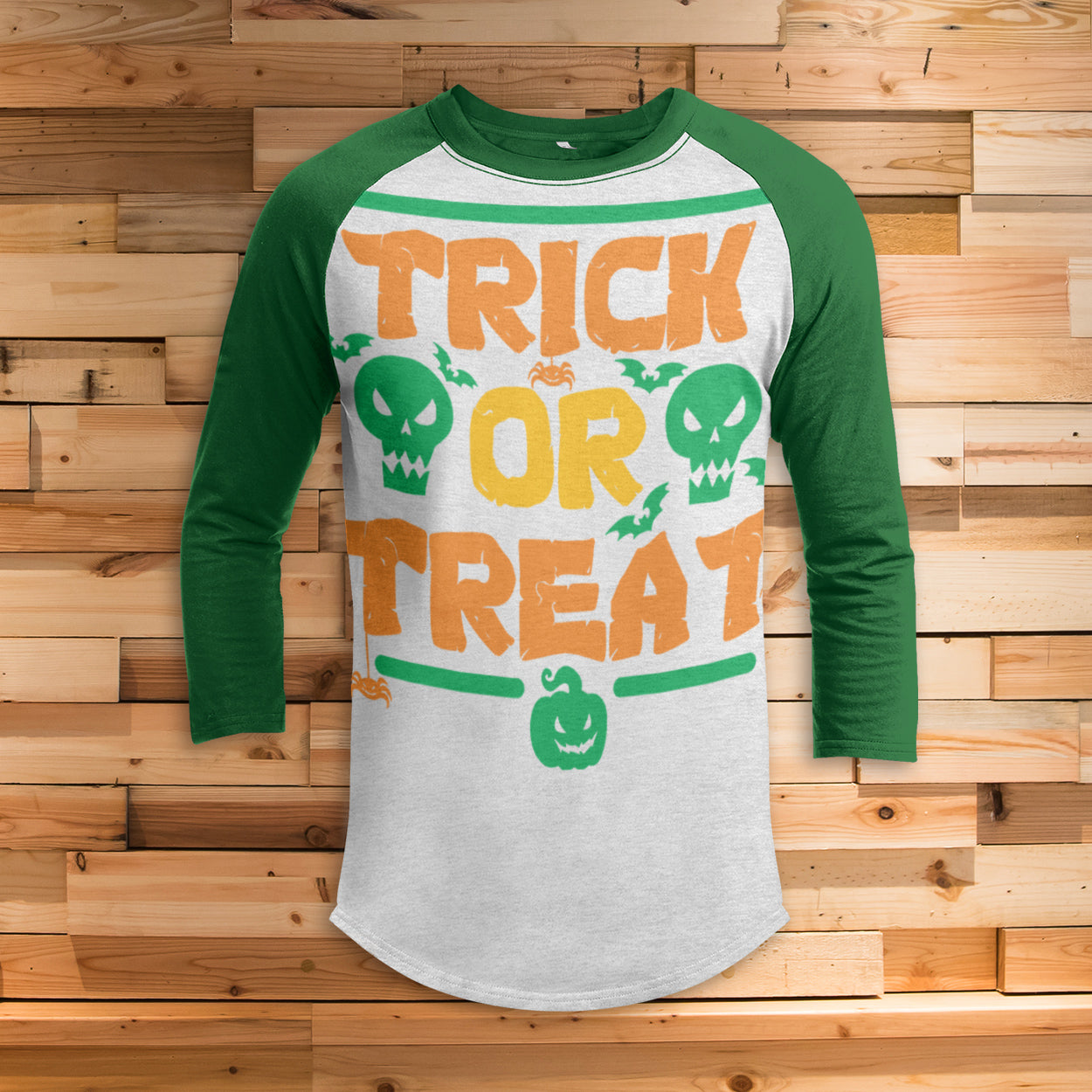 Trick or Treat All Over Print 3/4 Sleeve Raglan