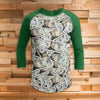 Politics - Trump on Money Bills All Over Print 3/4 Sleeve Raglan