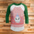 Jack Ugly Christmas Style 3/4 Sleeve Raglan - Nightmare Before Christmas Movie Shirt