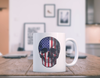 Patriotic - Skull Flag 11 oz. White Mug