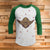 Yoda Ugly Christmas Style 3/4 Sleeve Raglan - Star Wars Movie Christmas Shirt