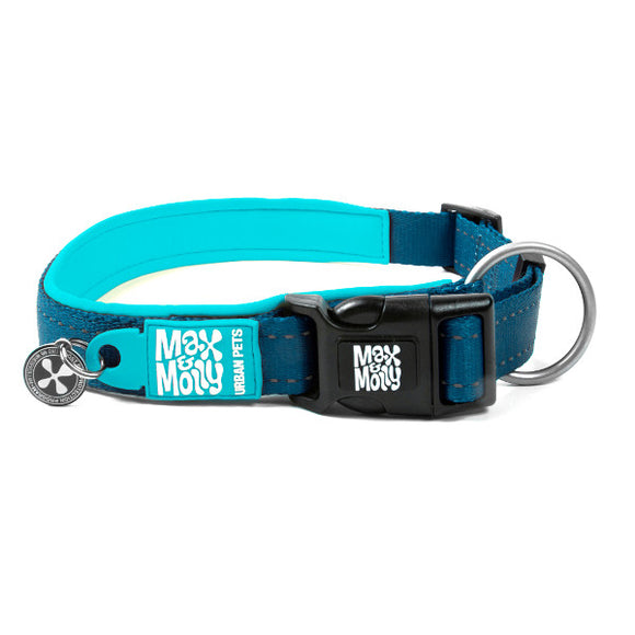 Max y Molly Collar para perros Matrix blue sky