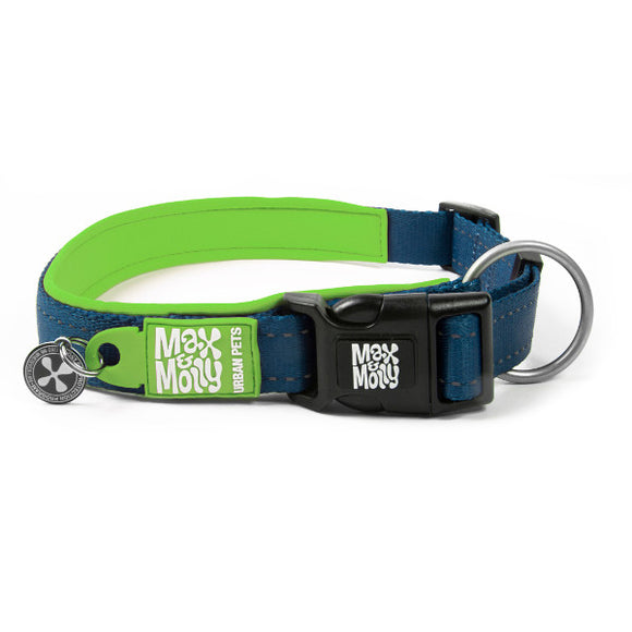 Max y Molly Collar para perros Matrix Green
