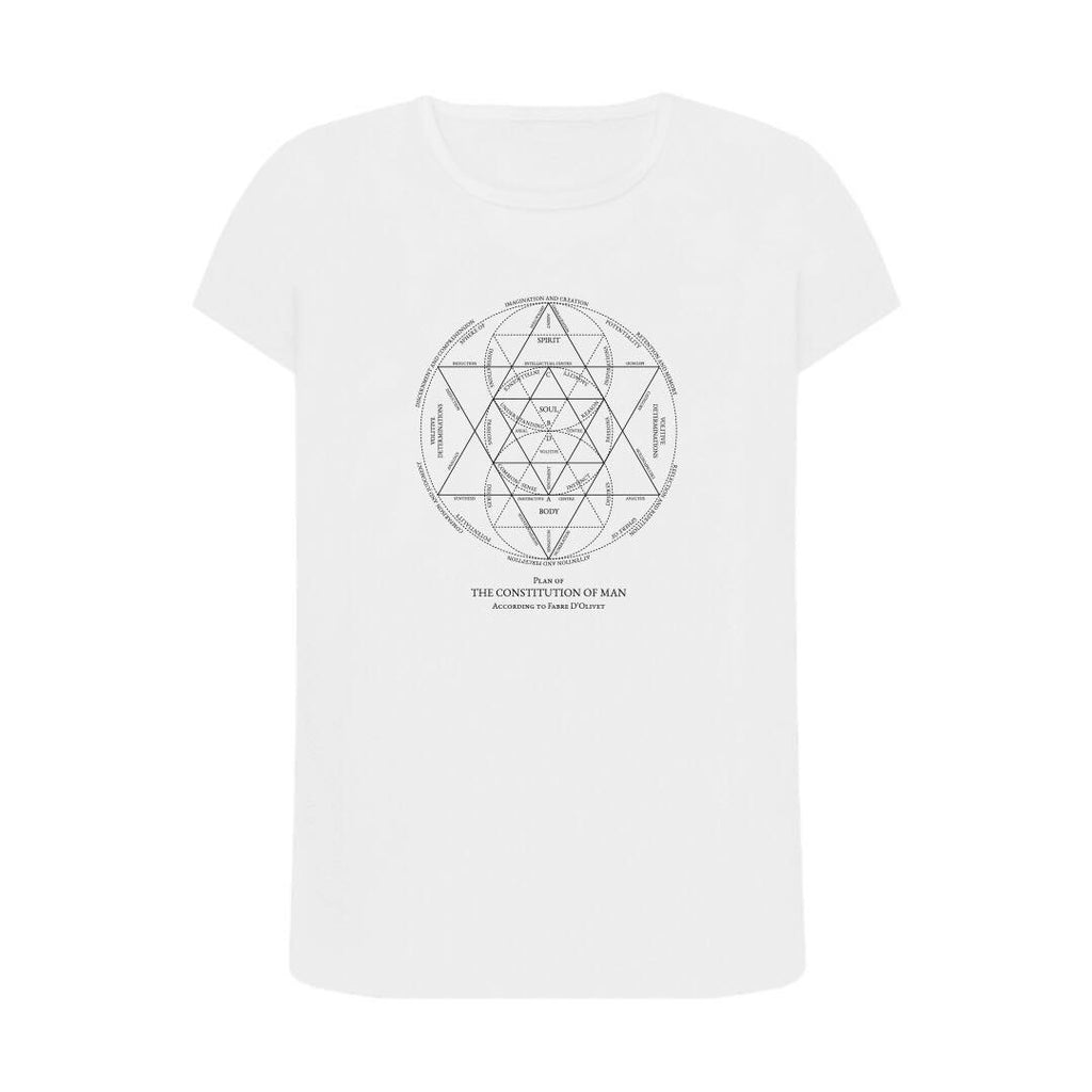 Constitution of Man Organic White T Shirt