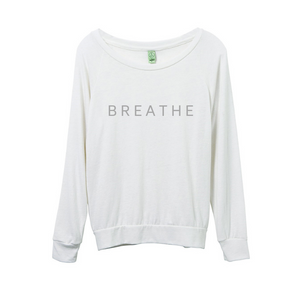 'Breathe' Cream Long Sleeved Eco-Jersey Top