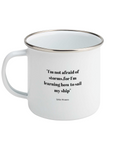 'Little Women' Quote Enamel Mug