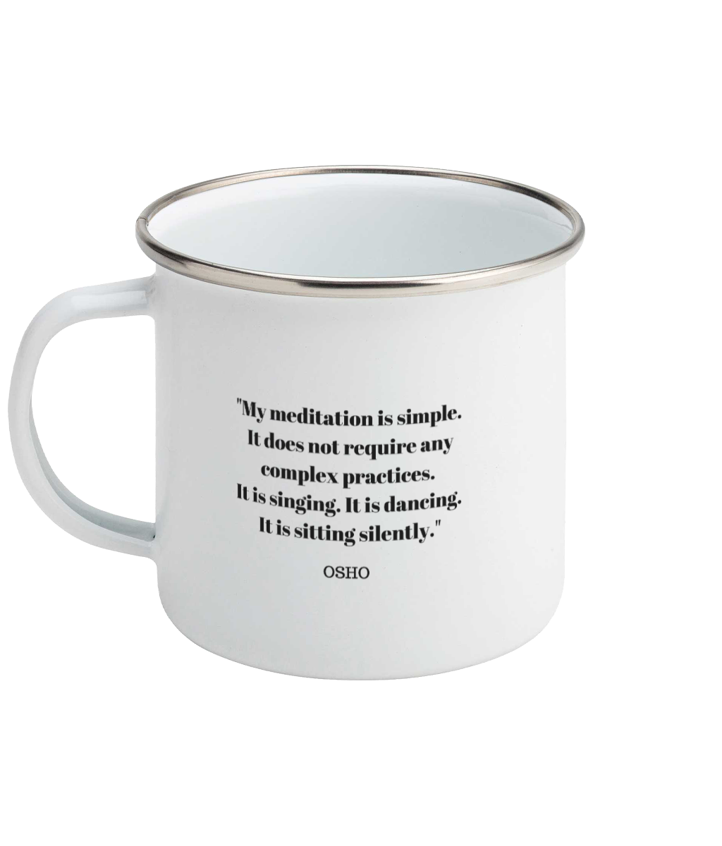 Osho Quote Enamel Mug