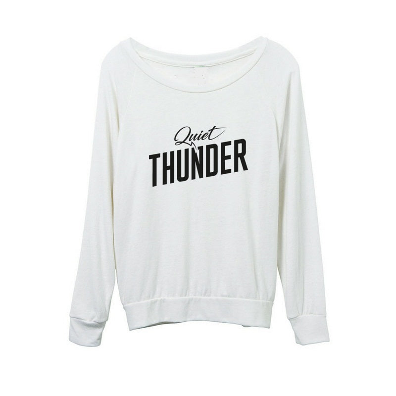 Quiet Thunder Cream Long Sleeved Eco-Jersey Top