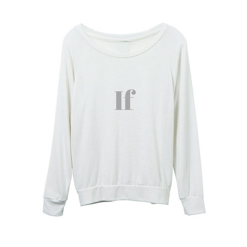 White 'IF' Eco-Jersey Long Sleeved Top