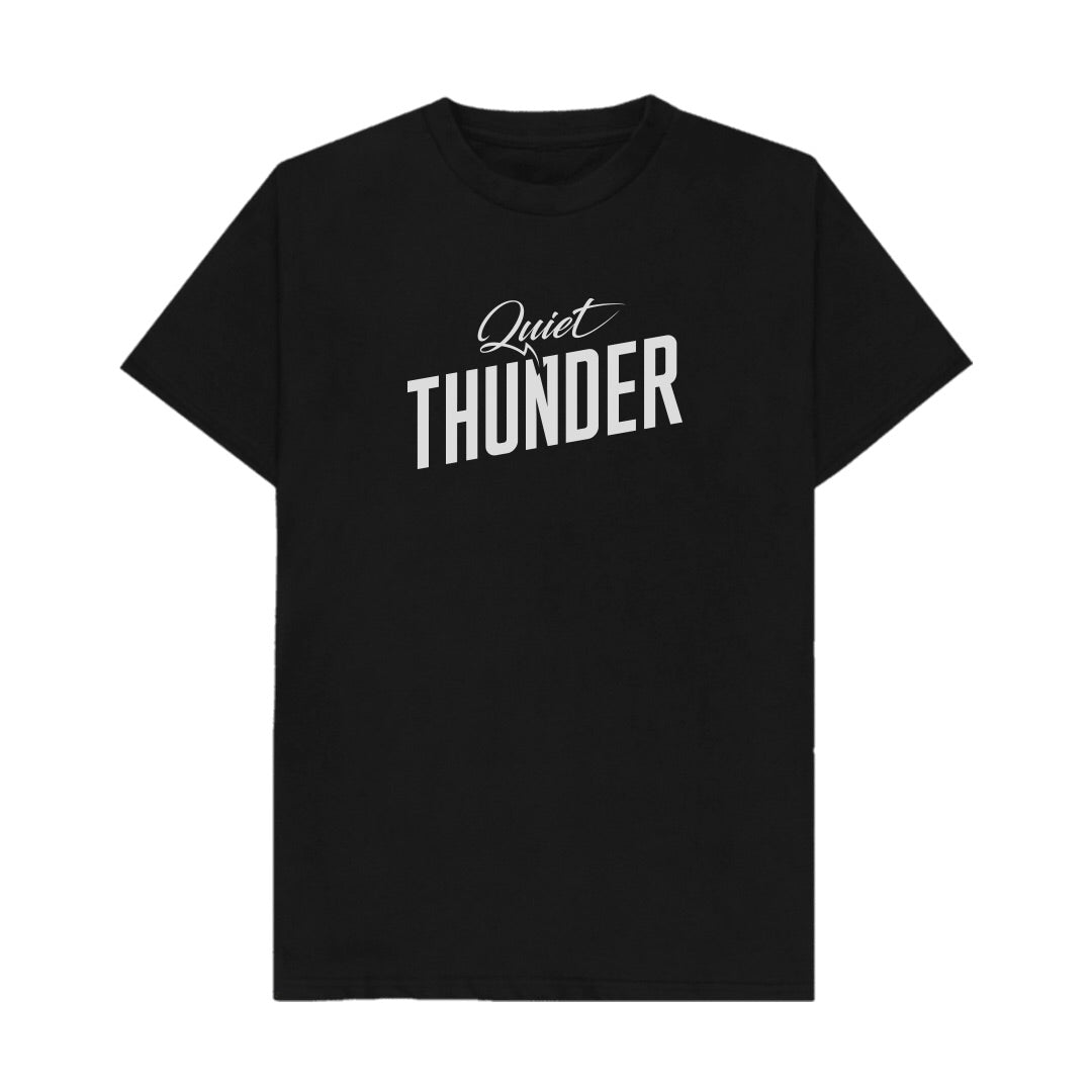 Quiet Thunder T shirt Black