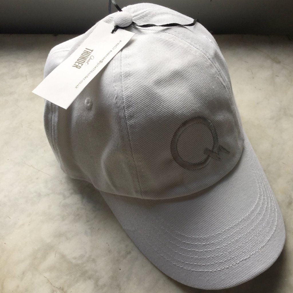 White Embroidered Baseball Cap
