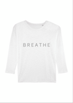 Breathe Organic White Long Sleeved Tee Shirt