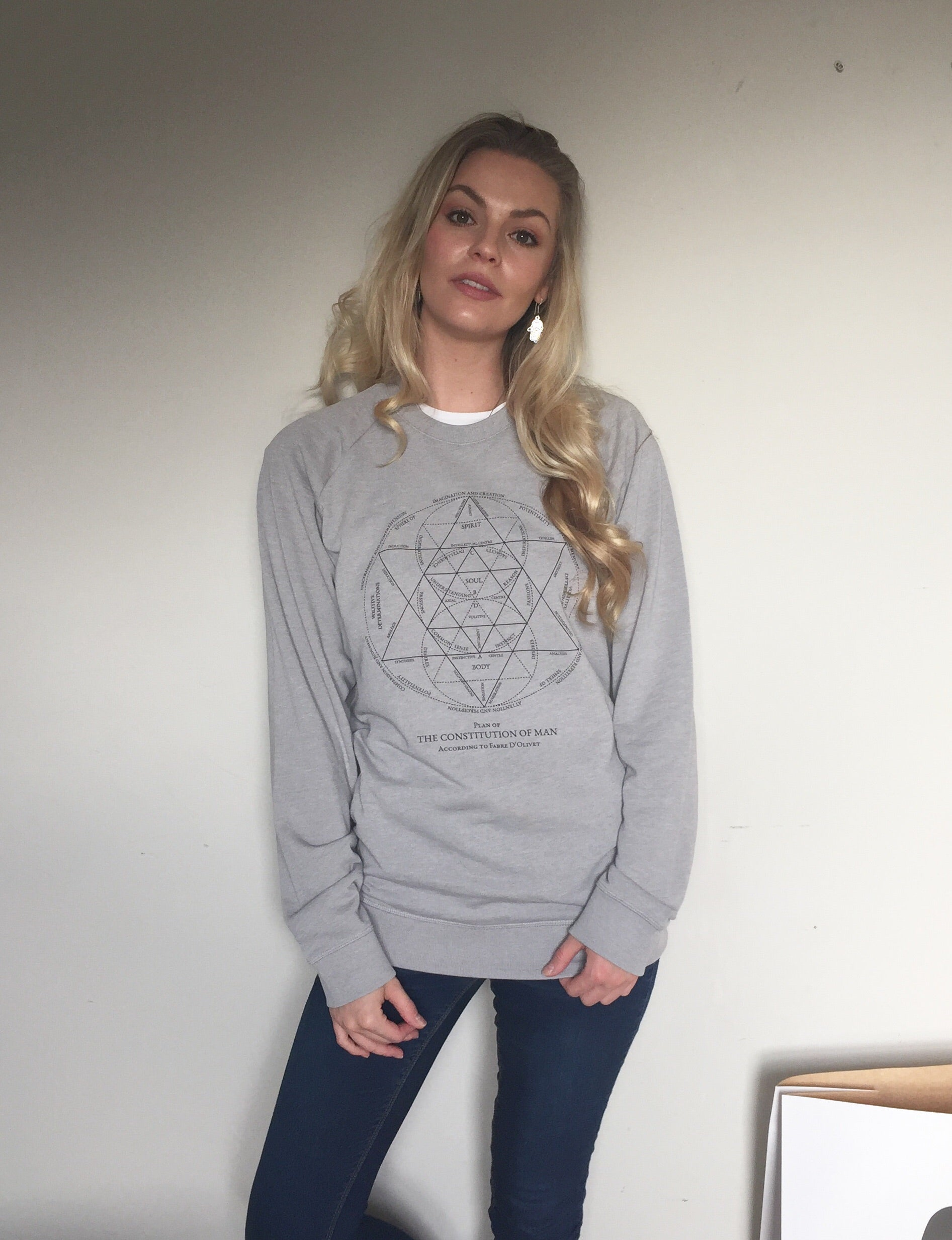 The Constitution of Man Grey Sweatshirt
