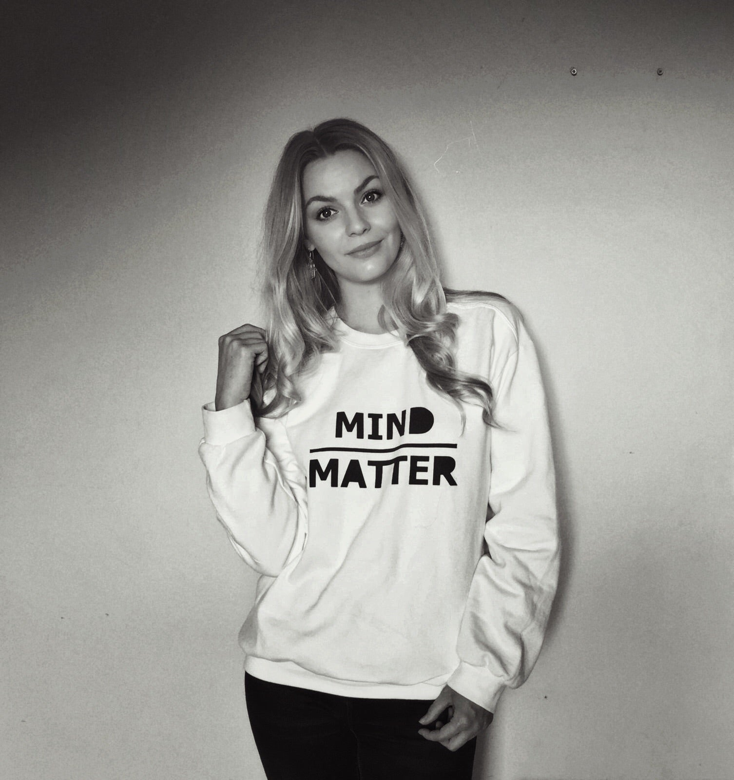 Mind Over Matter Unisex White Sweatshirt