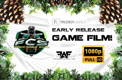 Early Release 2018 FAF D1-FCS Senior Scout Bowl Game Film! (Download)