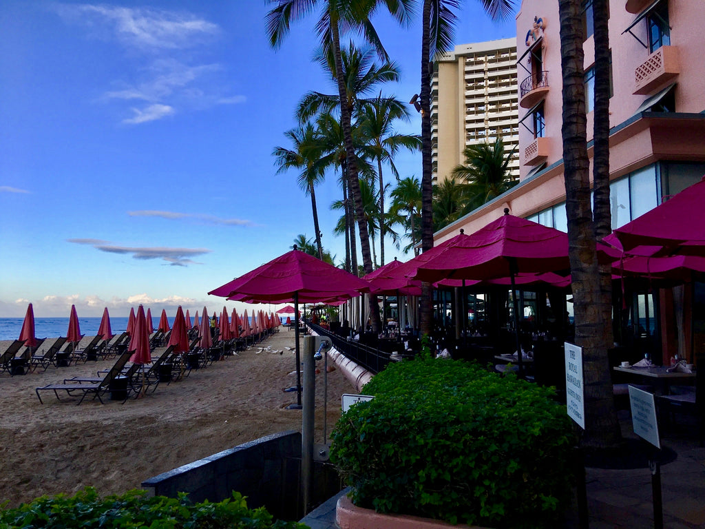 Beachfront at the Royal Hawaiian Hotel and Resort
