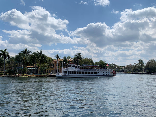 Riverboat cruising on the New River in Fort Lauderdale