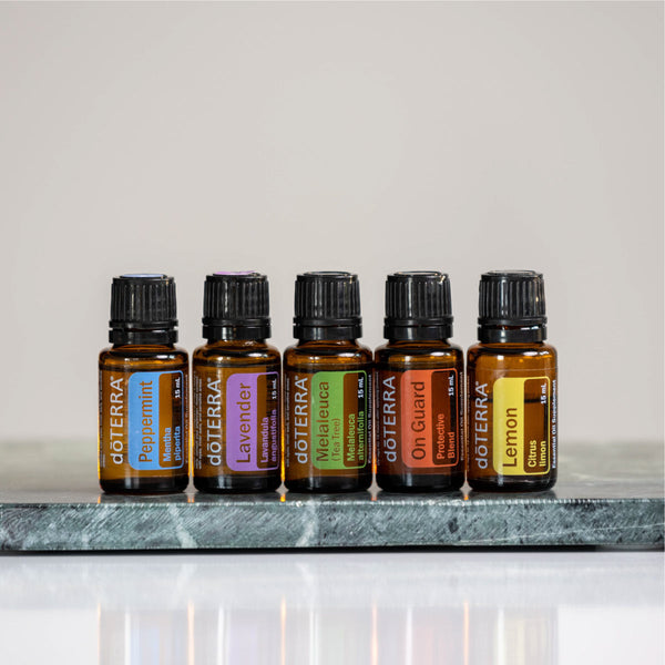 Bottles of Essential Oils from Doterra