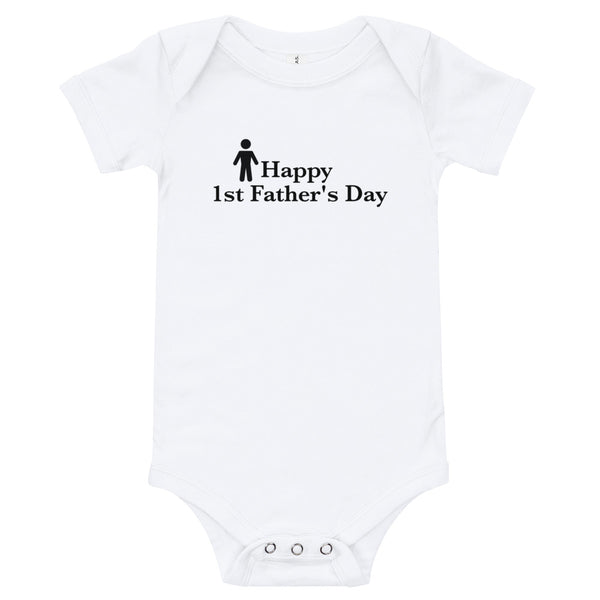 Happy 1st father's day bodysuit
