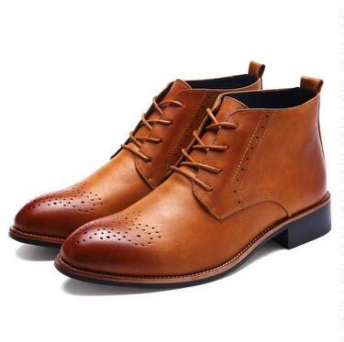 Leather Oxford Martin boots