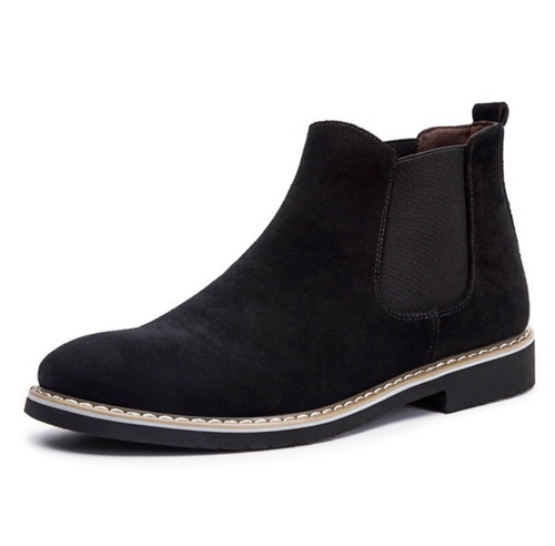 Rough Suede Chelsea Boots