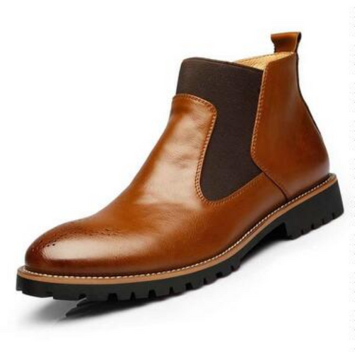 Bullock Carved Chelsea Boots